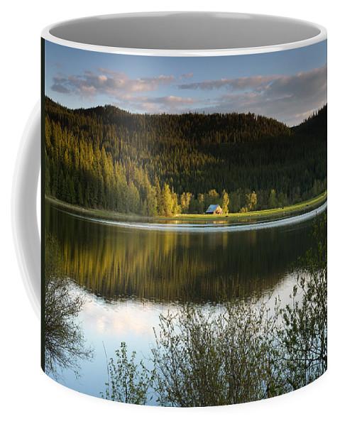 Barns Coffee Mug featuring the photograph Saint Joe Barn by Leland D Howard