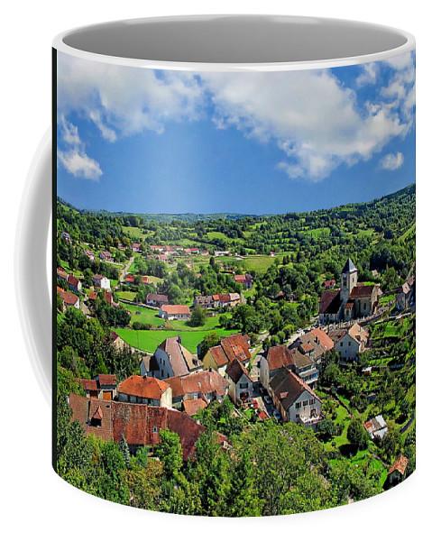 Stone Coffee Mug featuring the photograph Saint-laurent Landscape by Anthony Dezenzio