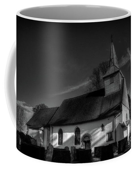 St Mary Coffee Mug featuring the digital art Saint Mary And All Saints Church by Nigel Bangert