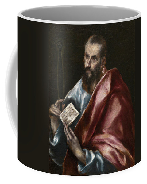 Apostle Coffee Mug featuring the painting Saint Paul by El Greco