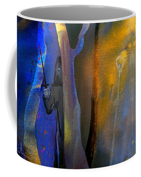 Bile Art Coffee Mug featuring the painting Saints And Sinners by Miki De Goodaboom