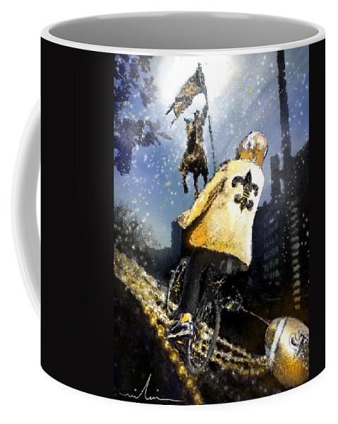 New Orleans Coffee Mug featuring the painting Saints Summit In New Orleans by Miki De Goodaboom