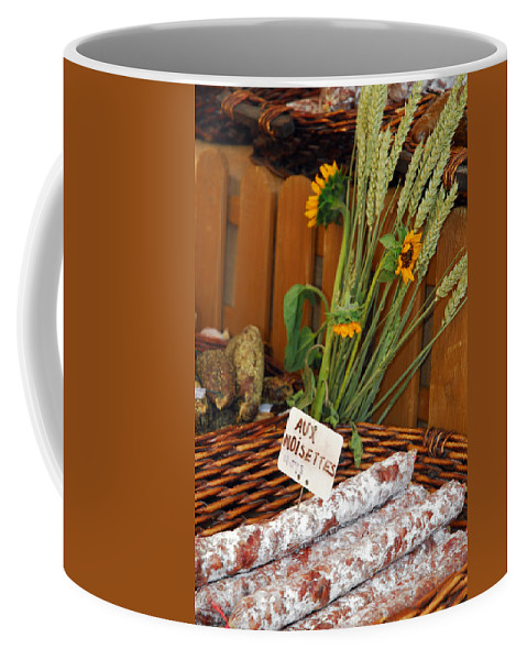 Provence Coffee Mug featuring the photograph Salami For Slae With Wheat by Anne Keiser