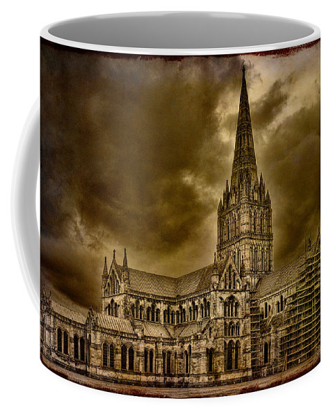 Cathedral Coffee Mug featuring the photograph Salisbury Cathedral by Chris Lord