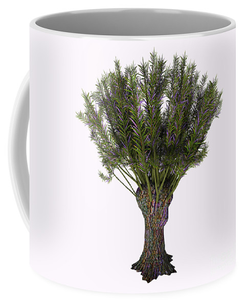 3d Illustration Coffee Mug featuring the painting Salix Viminalis Tree by Corey Ford