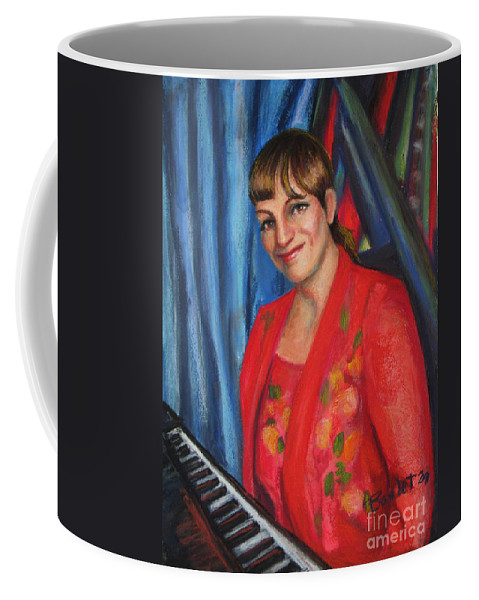 Musician Coffee Mug featuring the painting Sally Ann by Beverly Boulet