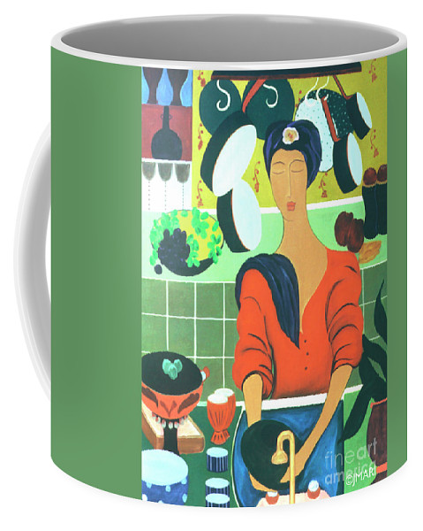 #kitchen Coffee Mug featuring the painting Sally by Jacquelinemari