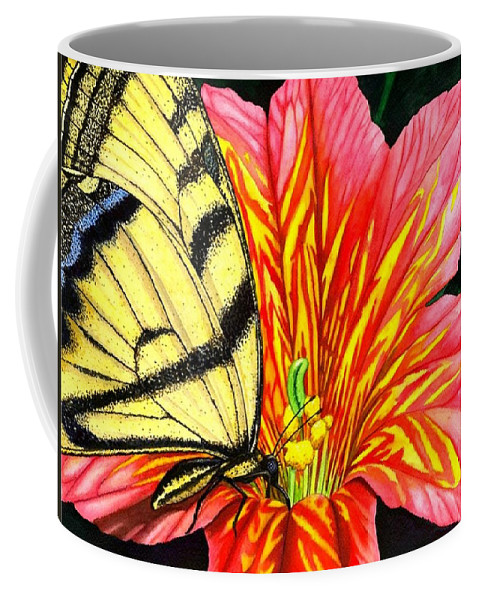 Salpiglossis Coffee Mug featuring the painting Salpliglossis by Catherine G McElroy