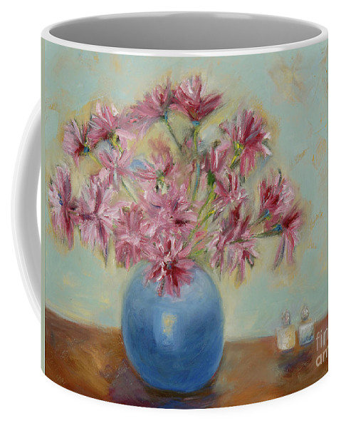 Flowers Coffee Mug featuring the painting Salt And Pepper I C by Karen Francis