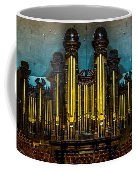 Salt Lake City Coffee Mug featuring the photograph Salt Lake Tabernacle Organ by TL Mair