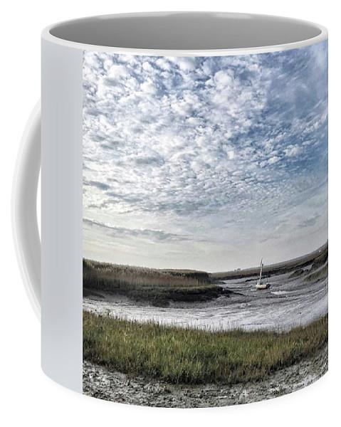 Beautiful Coffee Mug featuring the photograph Salt Marsh And Creek, Brancaster by John Edwards