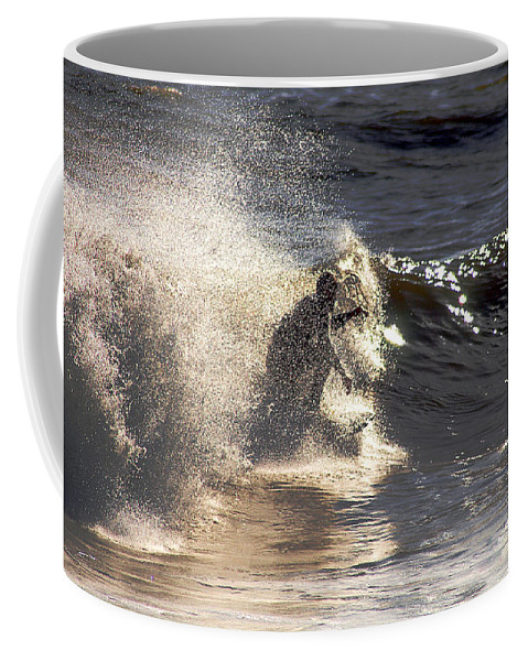 Clay Coffee Mug featuring the photograph Salt Spray Surfing by Clayton Bruster