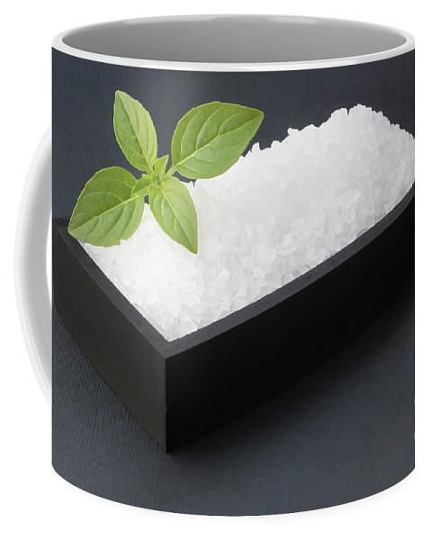 Salt Coffee Mug featuring the photograph Salty Basil by Johan Swanepoel