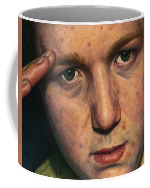 Salute Coffee Mug featuring the painting Salute by James W Johnson