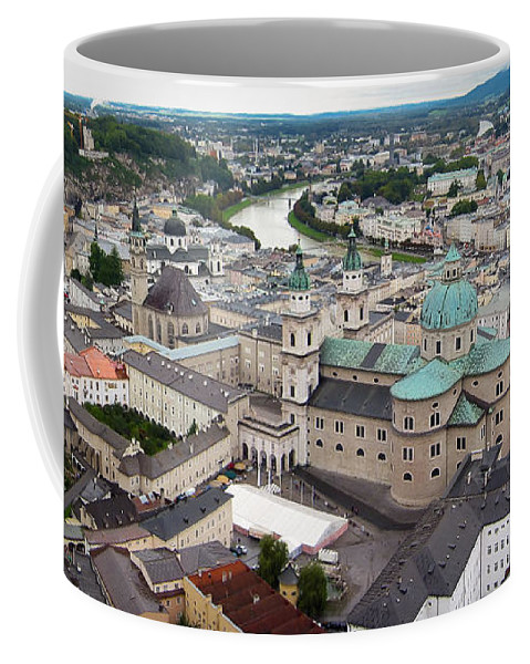 3scape Coffee Mug featuring the photograph Salzburg Panoramic by Adam Romanowicz