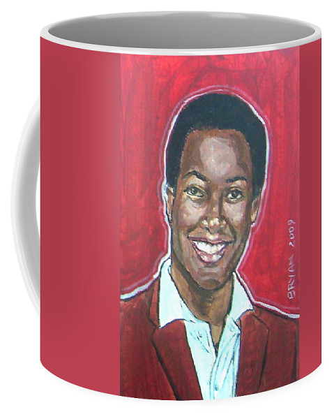 Sam Cooke Coffee Mug featuring the painting Sam Cooke by Bryan Bustard