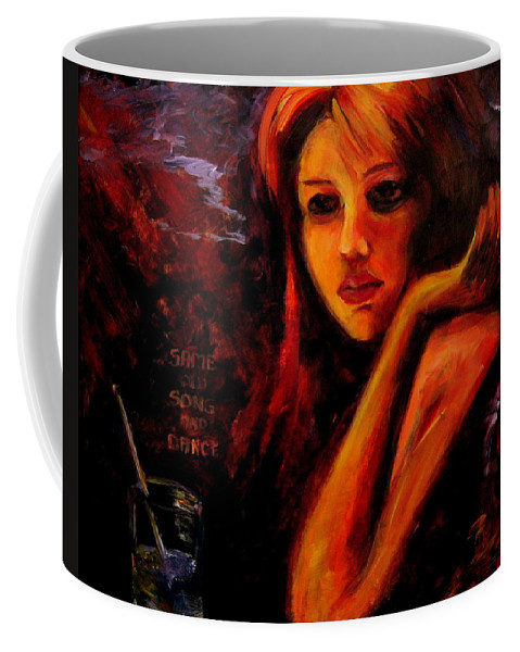 Woman Coffee Mug featuring the painting Same Old Song And Dance by Jason Reinhardt