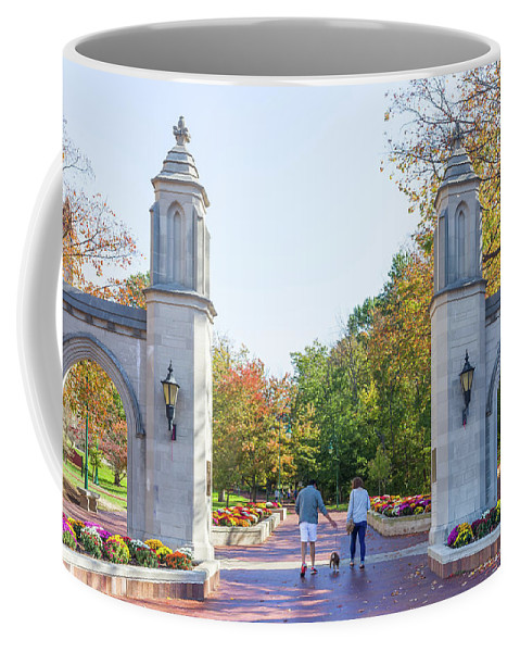 Architecture Coffee Mug featuring the photograph Sample Gates At University Of Indiana by Ken Wolter