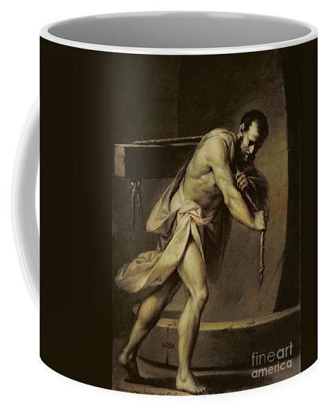 Samson Coffee Mug featuring the painting Samson In The Treadmill by Giacomo Zampa
