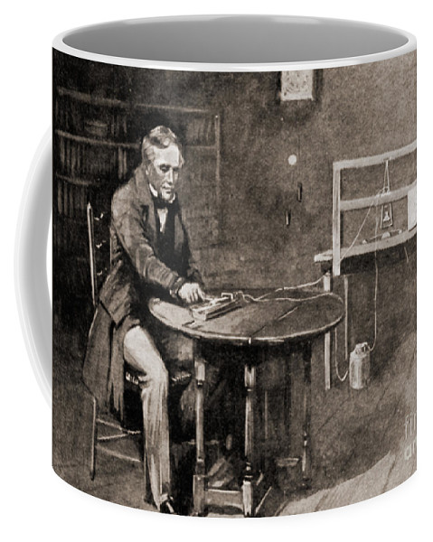 Historic Coffee Mug featuring the photograph Samuel Morse And Telegraph, 19th Century by Wellcome Images