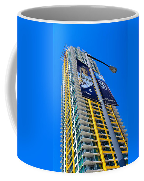 San Diego Apartment Towers Coffee Mug featuring the photograph San Diego Apartment Tower by Robert VanDerWal