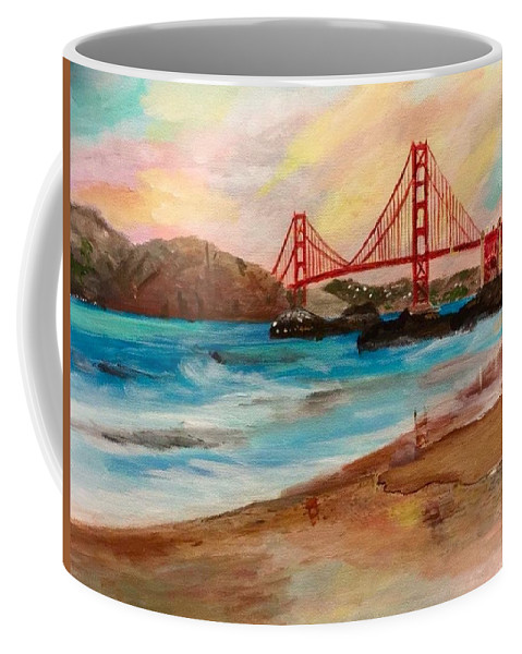 Golden Gate Coffee Mug featuring the painting San Francisc Bridge by Nohemi James