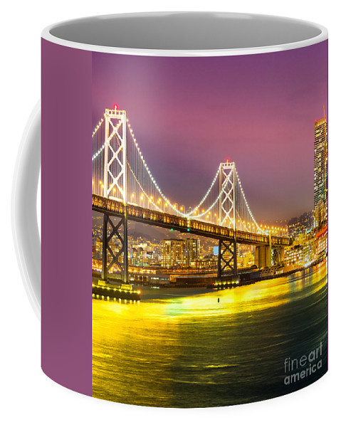 Francisco Coffee Mug featuring the photograph San Francisco - Bay Bridge by Luciano Mortula