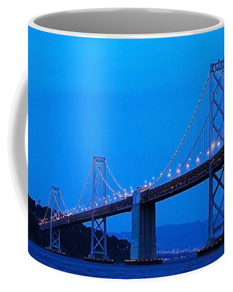 San Francisco Coffee Mug featuring the photograph San Francisco Bay Bridge by Mick Burkey