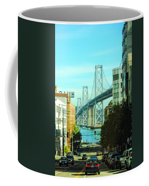 San Francisco Coffee Mug featuring the photograph San Francisco Street by Donna Blackhall
