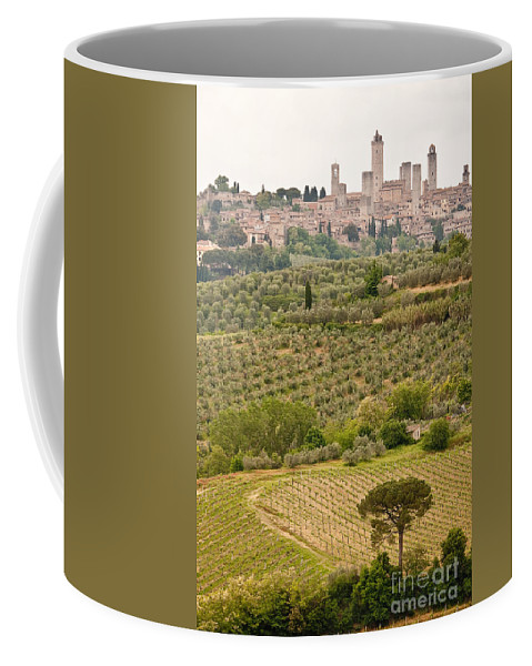 Italy Coffee Mug featuring the photograph San Gimignano II by Colette Panaioti