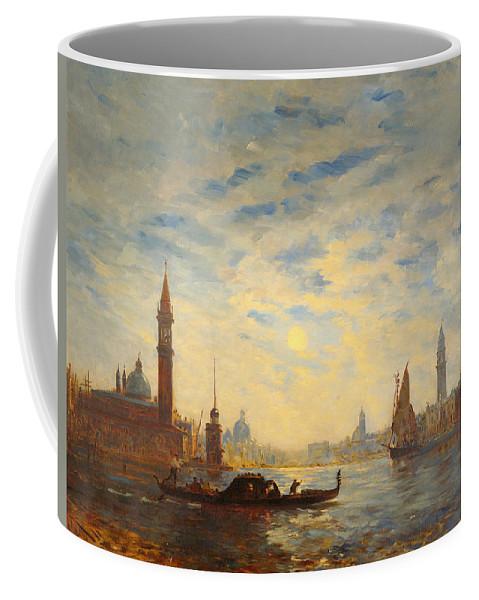 Felix Ziem Coffee Mug featuring the painting San Giorgio by Felix Ziem
