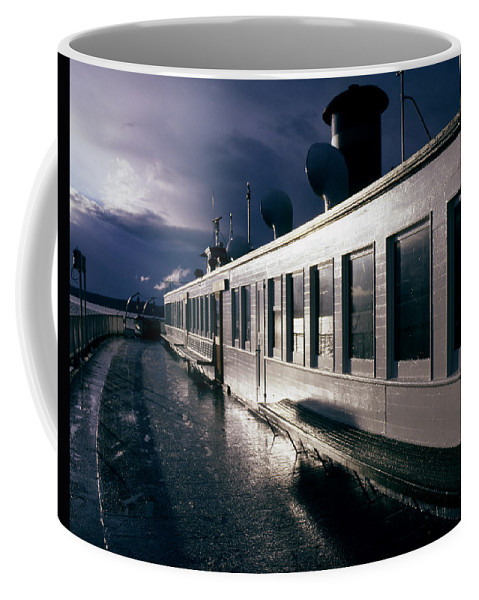 Scenic Coffee Mug featuring the photograph San Juan Islands Ferry by Lee Santa