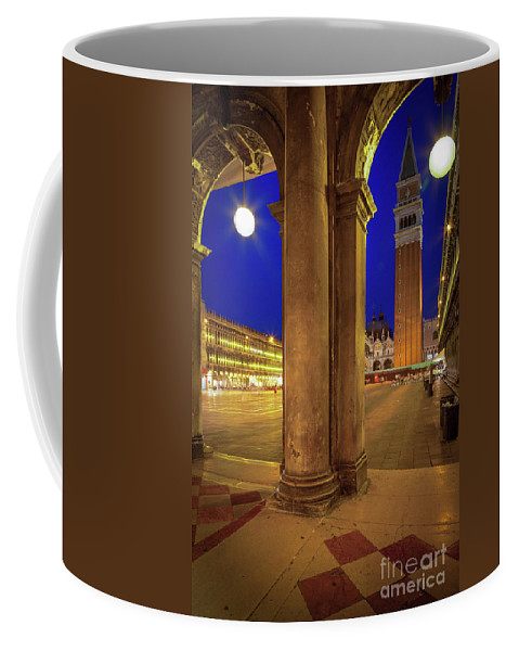 Europe Coffee Mug featuring the photograph San Marco At Night by Inge Johnsson