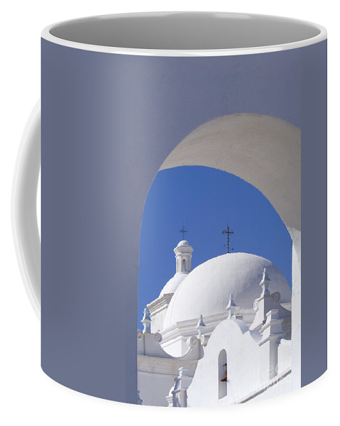 Southwest Coffee Mug featuring the photograph San Xavier Del Bac by Sandra Bronstein