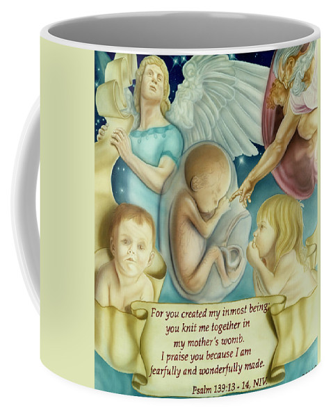 Prolife Coffee Mug featuring the painting Sanctity Of Life by Rich Milo
