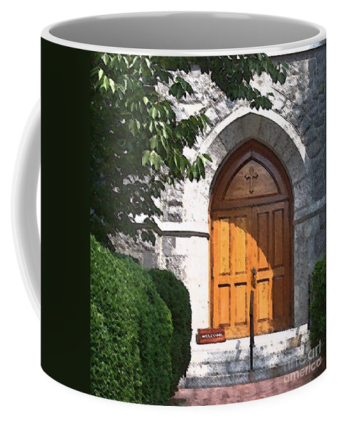Church Coffee Mug featuring the photograph Sanctuary by Debbi Granruth