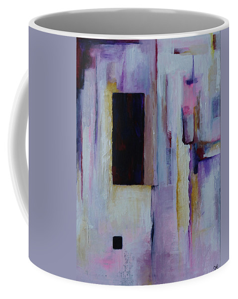Abstract Coffee Mug featuring the painting Sanctuary In Amber by Sherri Hanna