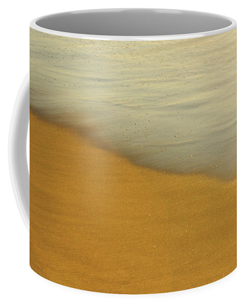 Ocean Coffee Mug featuring the photograph Sand And Ocean by Laura Diara