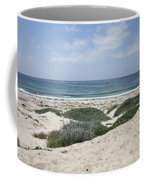 Sandy Beach Coffee Mug featuring the photograph Sand And Sea by Carol Groenen