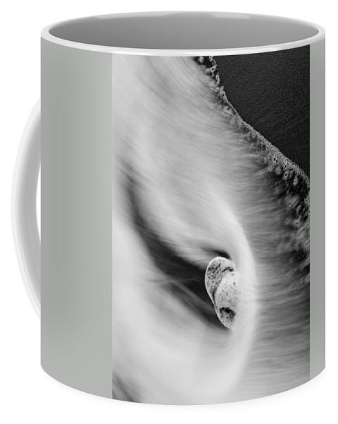 Rock Coffee Mug featuring the photograph Sand And Sea by Mike Dawson