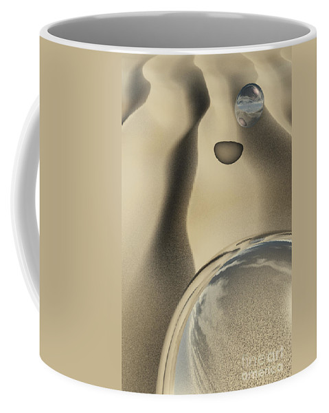 Contemporary Coffee Mug featuring the digital art Sand Bubbles by Richard Rizzo