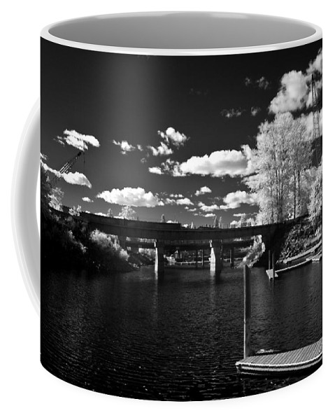 B&w Coffee Mug featuring the photograph Sand Creek In Infrared by Lee Santa