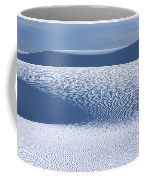 White Sands Coffee Mug featuring the photograph Sand Patterns by Sandra Bronstein