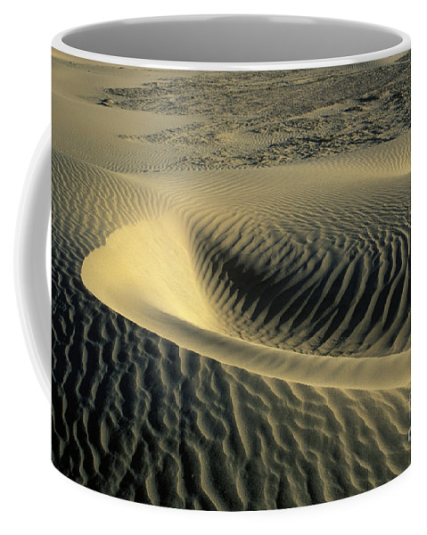 Death Coffee Mug featuring the photograph Sand Ripples by Jim And Emily Bush