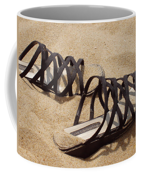Shoes Coffee Mug featuring the photograph Sand Shoes I by Deborah Crew-Johnson