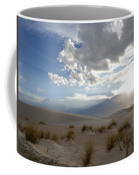 Landscape Coffee Mug featuring the photograph Sand Sun by Charleen Treasures