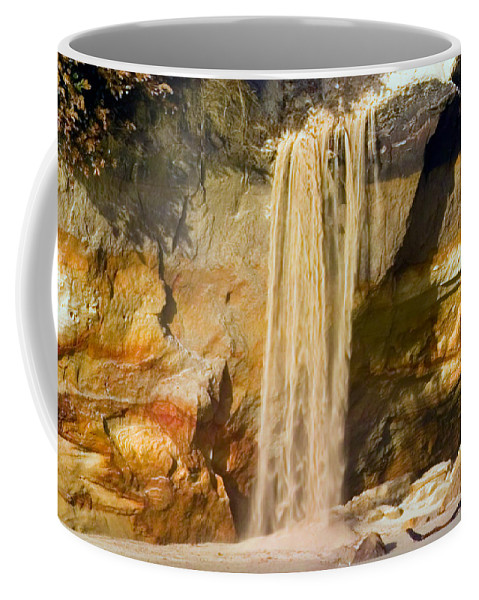 Sandfall Coffee Mug featuring the photograph Sandfall by Randall Ingalls