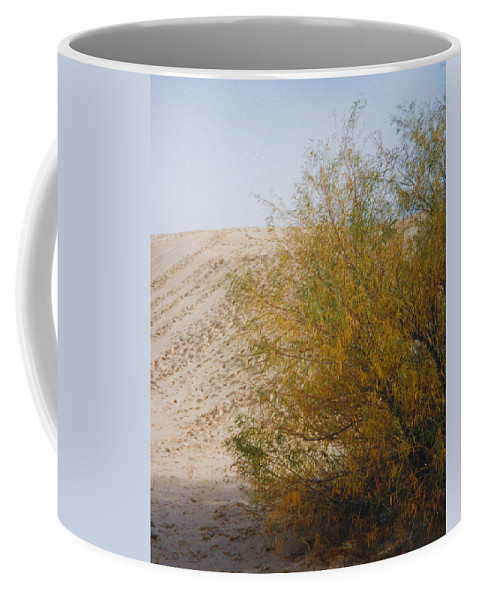 Sands Monohans Bush Trees Footprints Coffee Mug featuring the photograph Sands Of Monahans - 2 by Cindy New