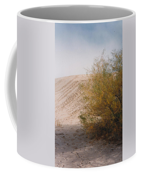 Sands Sand Footprints Bush Coffee Mug featuring the photograph Sands Of Monahans by Cindy New