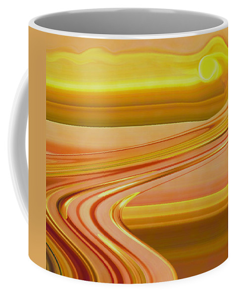 Sunset Art Coffee Mug featuring the digital art Sands of Time by Linda Sannuti